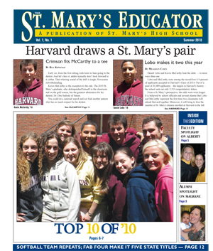 St. Mary's Educator, Summer 2010