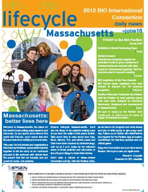 Lifecycle Massachusetts Monday, June 18, 2012: BIO International Convention Daily News